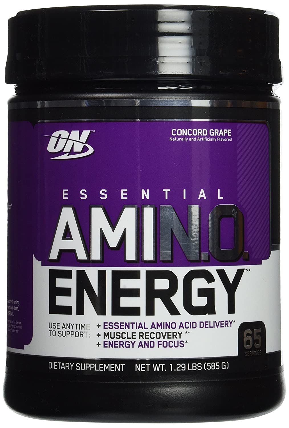 Nane OPTIMUM NUTRITION Amino Energy, Concord Grape, Preworkout and Essential Amino Acids with Green Tea and Green Coffee Extract, 65 Servings