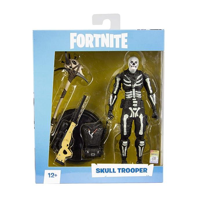 6bb77495e08 Amazon.com  McFarlane Toys Fortnite Skull Trooper Premium Action Figure   Toys   Games
