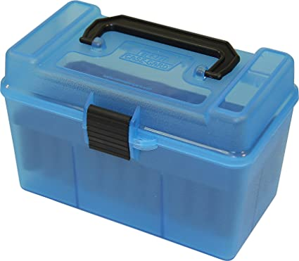 MTM H50-R-MAG Deluxe 50-Round Rifle Ammo Box 300 Win Mag 30-30 375 H&H 7mm  Rem Mag
