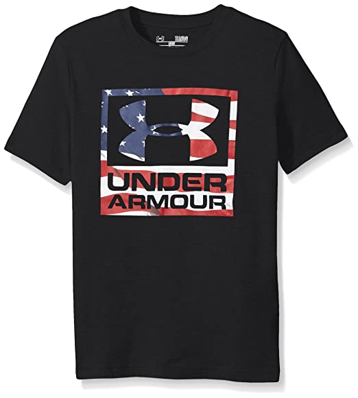 e7536823 Amazon.com: Under Armour Boys' Big Flag Logo: Clothing