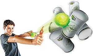 Diggin Slimeball Arcade Flinger Darts. Toy Sling-Shot Launcher & Target Can Set