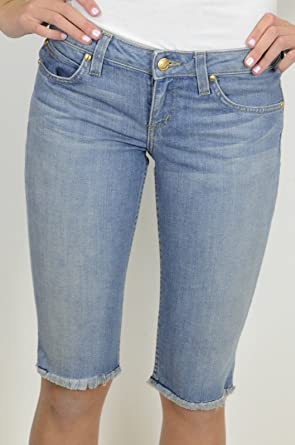 c9b583f302 Image Unavailable. Image not available for. Color  Juicy Couture Women s  Cut Off Bermuda Denim Shorts ...