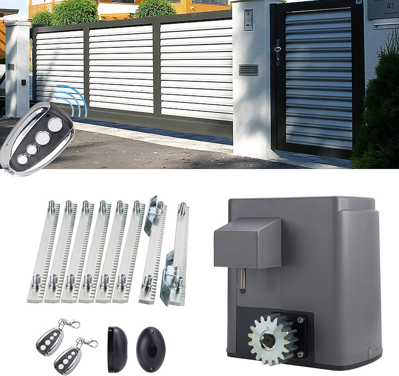 200W Hiram 200W Motor para Puertas Correderas Capacidad de 600kg Abridor de Puerta Inteligente con Control Remotos Abridor para Puerta Corredera