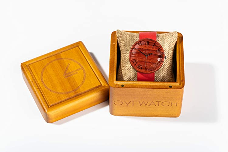 Red Wood Wrist Watch