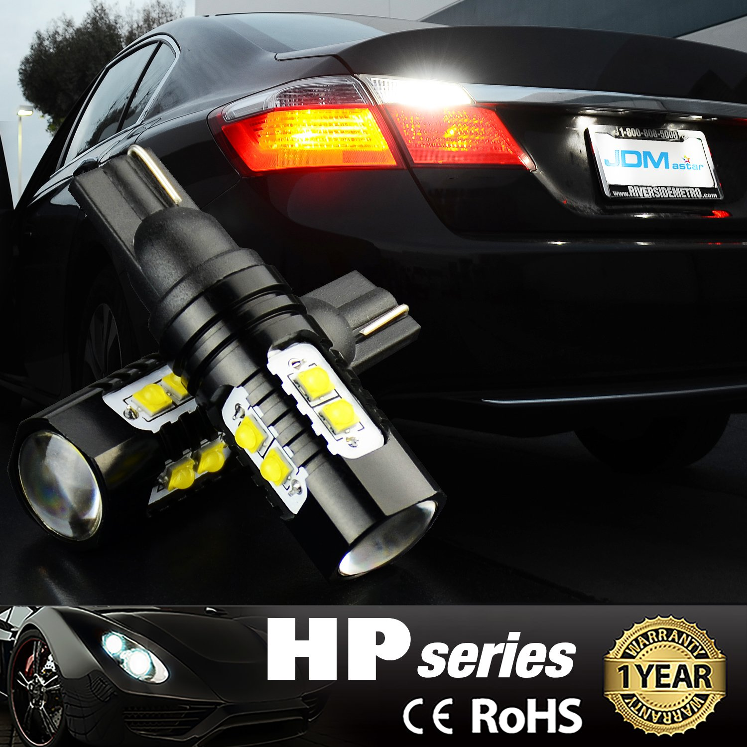 JDM ASTAR Extremely Bright Max 50W High Power 912 921 LED Bulb For Backup Reverse Lights Xenon White