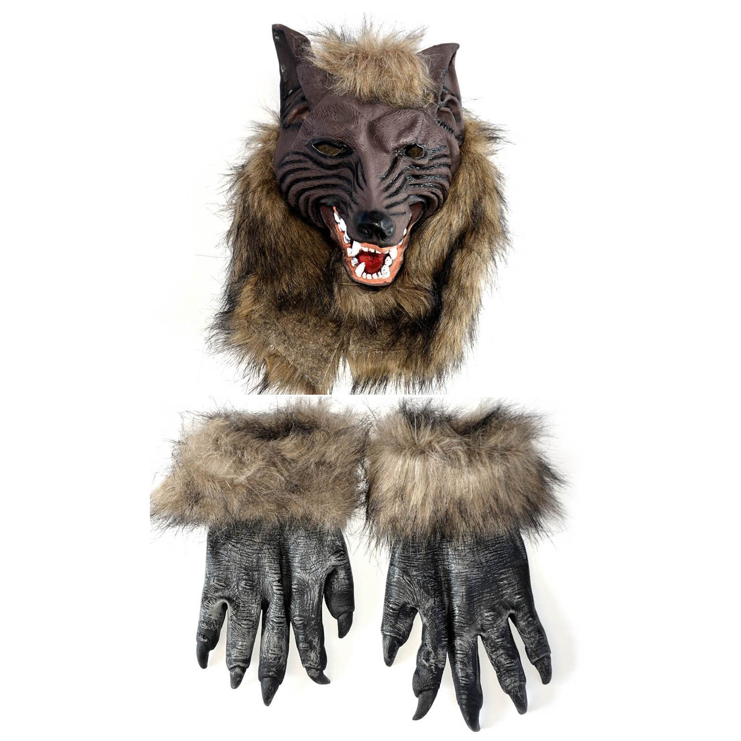 amazoncom cosplay party mask werewolf skull halloween wolf head mask toys games - Wolf Halloween