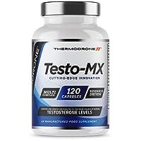 Extreme Testosterone Support for Men - Testo-MX 120 Capsules - UK Made Premium Testosterone Support - Zinc Booster - Tribulus, Maca, D Aspartic Acid - Multi-Complex Formula Designed for Men