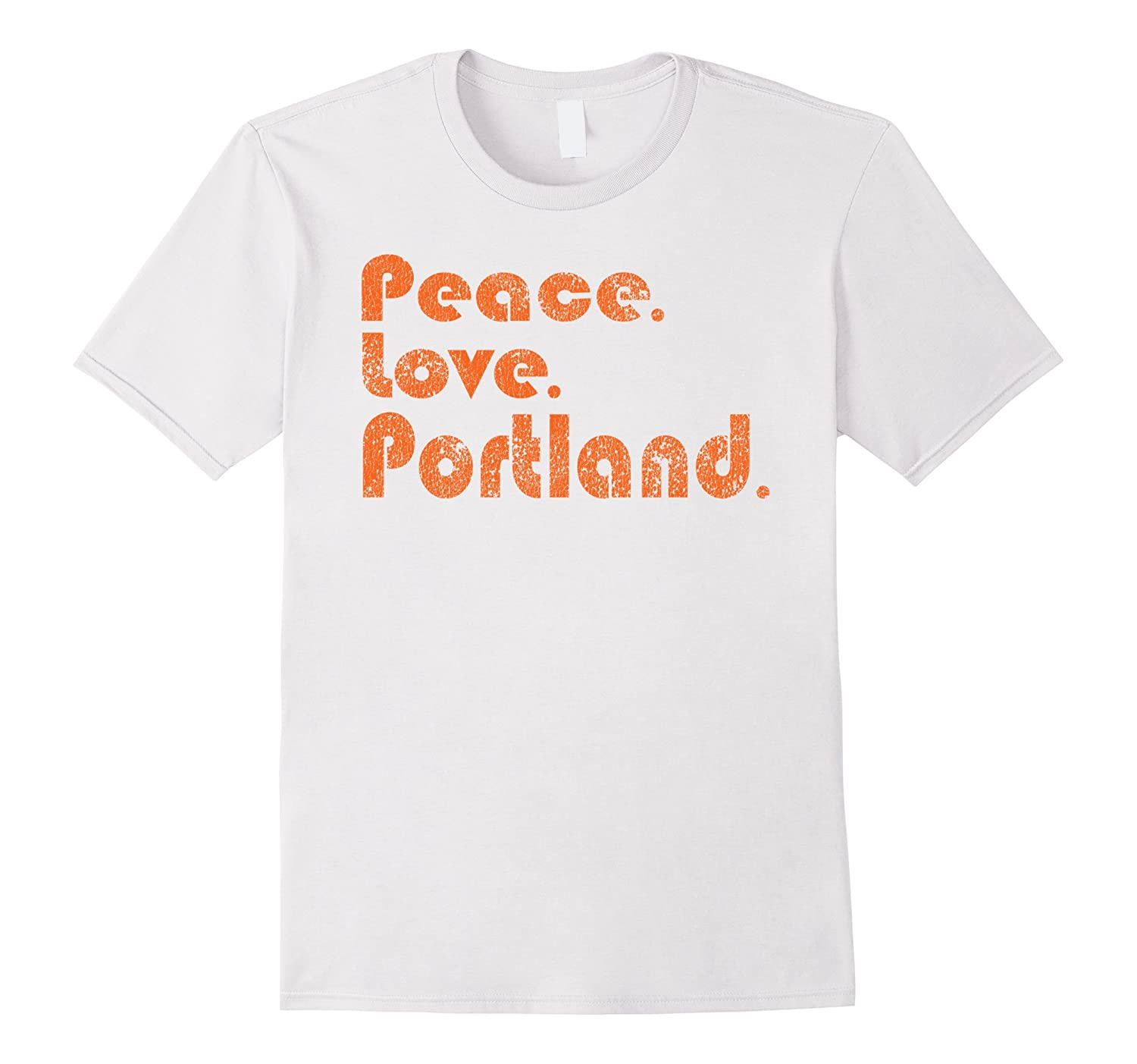 be1c7961 Awesome Retro Peace Love Portland Oregon Tshirt-CL – Colamaga