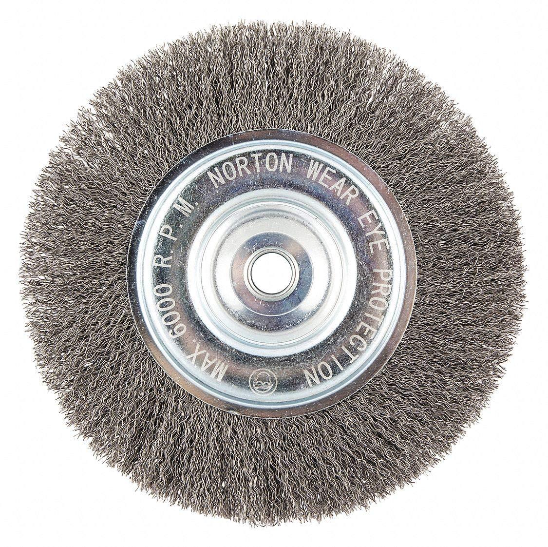 Weiler Trulock Narrow Face Wire Wheel Brush Round Hole Steel Crimped 01178