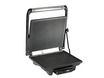 Tristar SA-2839 - Grill panini, Carcasa de Acero Inoxidable, Bandeja Recoge Grasa