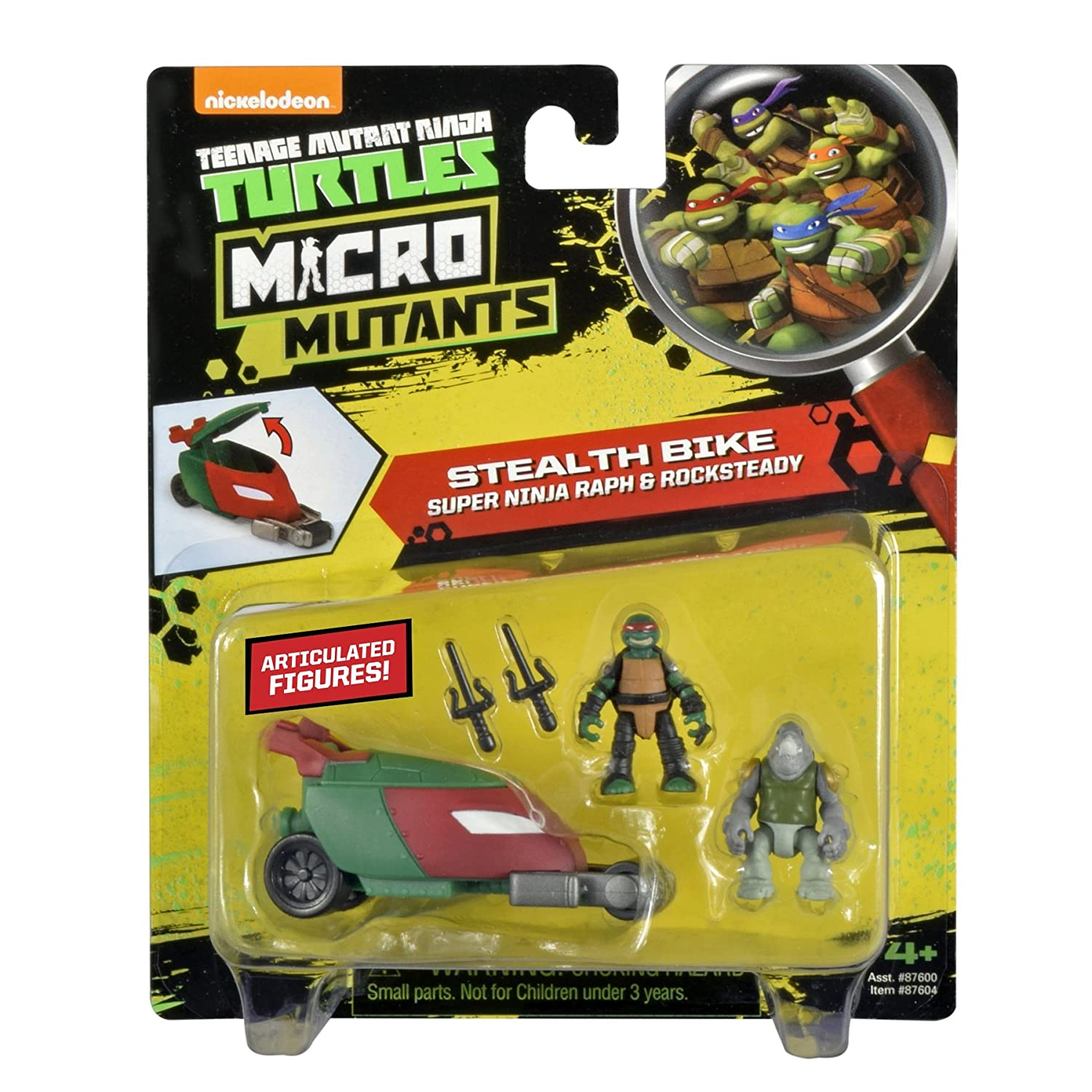 Teenage Mutant Ninja Turtles Micro Mutant Stealth Cycle with 1.15