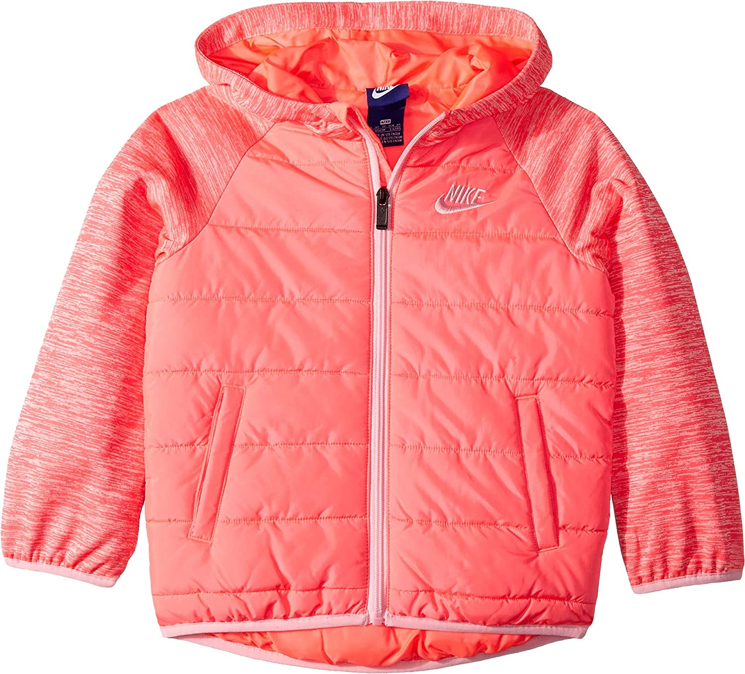 6b26184691 Amazon.com  Nike Kids Womens Therma Fleece Quilted Jacket (Little Kids)   Clothing