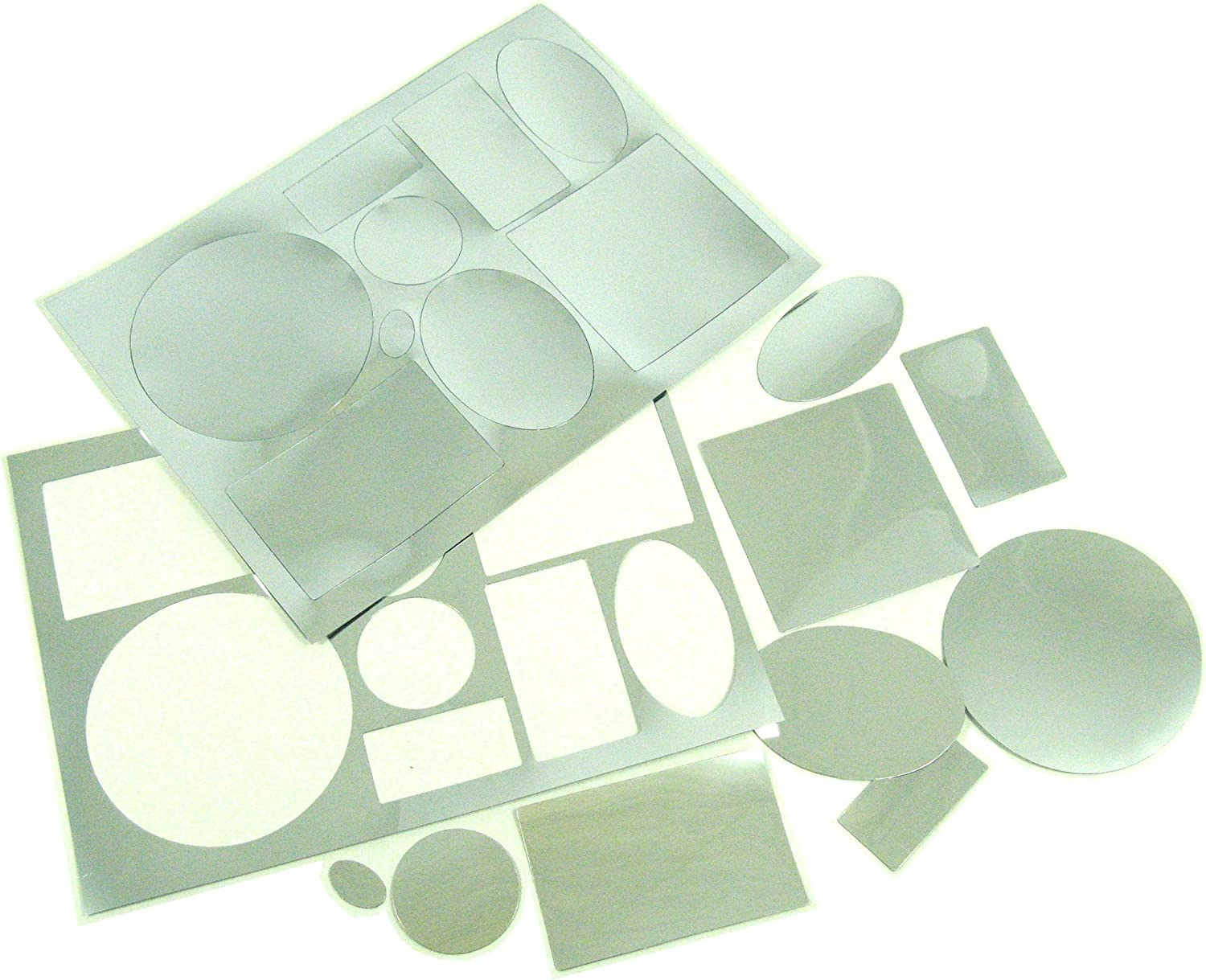 Reflective Die Cut Shapes Creative Crafts 36 Assorted Plastic Mirror Shapes