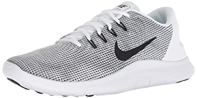 26fabfa24895 Nike Flex 2018 Rn Mens Aa7397-100 Size 7 White Black-Cool Grey