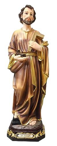 St. Joseph Statue Saint Joseph Sculpture Holy Figurine Religious Decorative Statue Joseph Statue Religious Gift 9 Inch