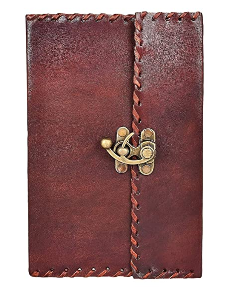 69075b776961 Image Unavailable. Image not available for. Color  Leather Diary With Lock  - Unlined Notebook and Journals to Write in By Rustic Town