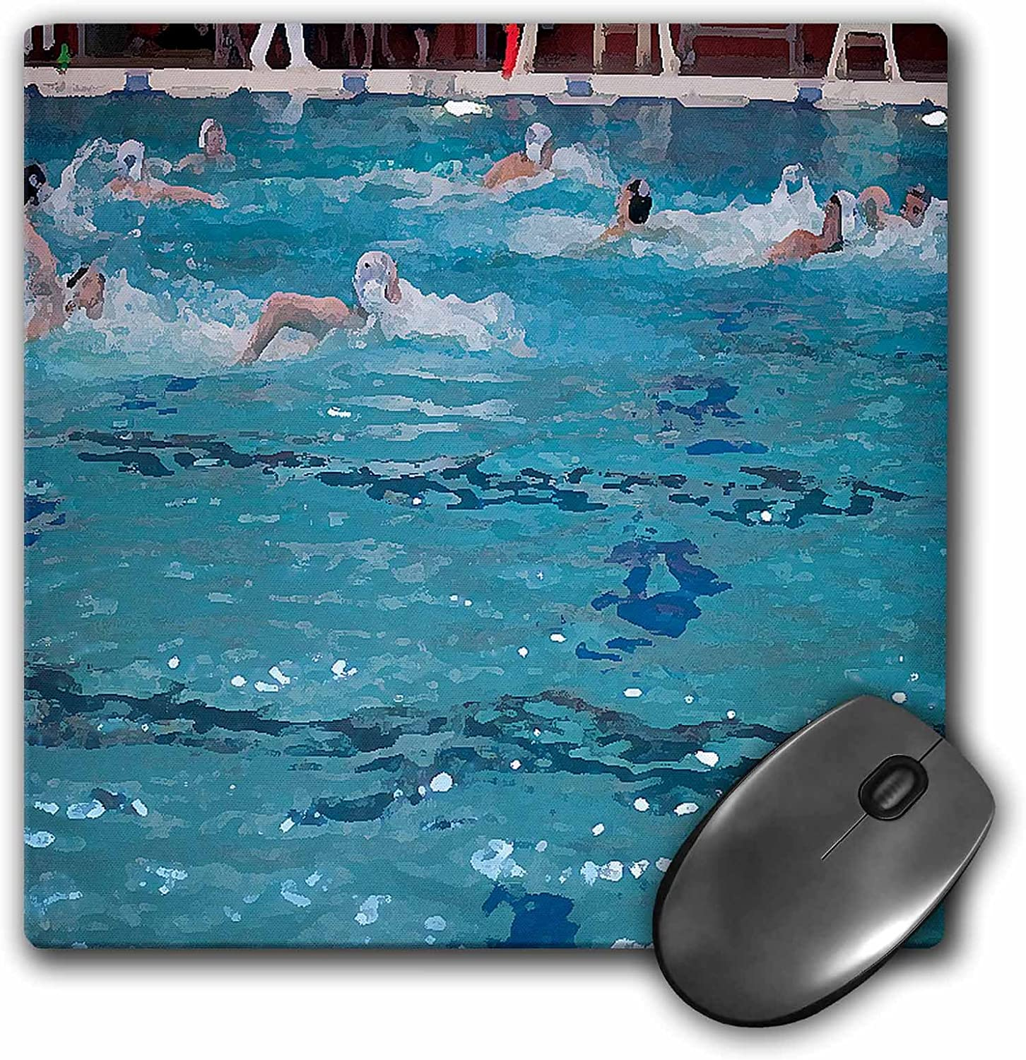 Amazon Com 3drose Boys Water Polo Team Swimming To Get The Ball Into The Net At A Swimming Pool In Cedar City Utah Mouse Pad Mp 50522 1 Office Products