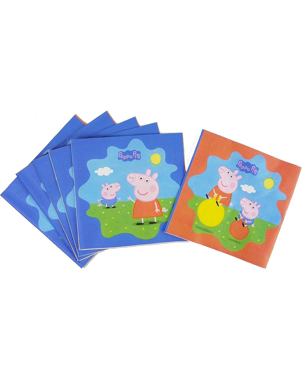 COOLMP - Lote de 12 servilletas de Papel Peppa Pig 33 x 33 ...