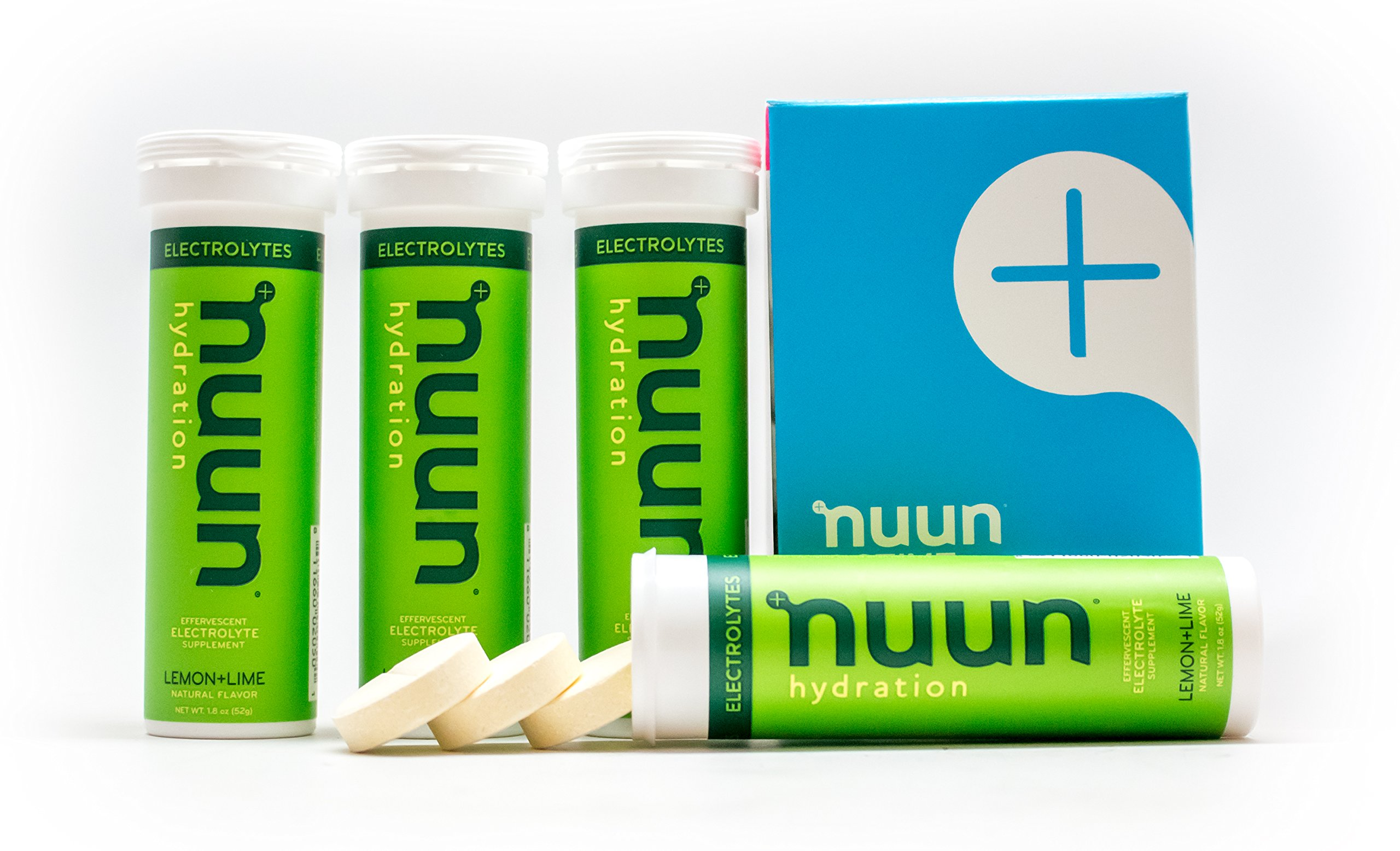 Nuun Hydration: Electrolyte Drink Tablets, Lemon Lime, Box of 4 Tubes (40  servings), to Recover Essential Electrolytes Lost Through Sweat