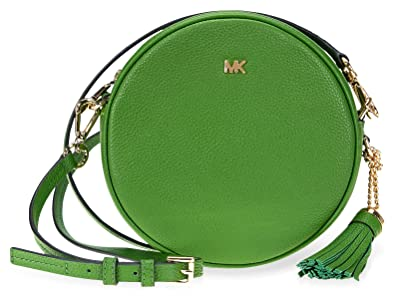 805195f7f9956f Michael Kors Mercer Medium Canteen Crossbody Bag- True Green: Amazon ...