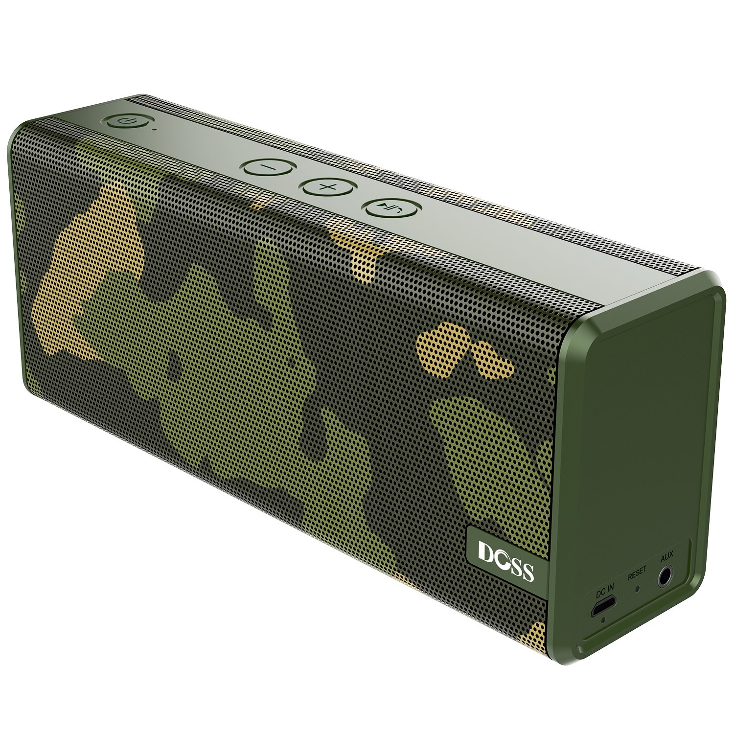 Bluetooth Speakers,DOSS SoundBox Color Portable Wireless Bluetooth 4.0 Speakers with 12W Stereo Sound and Enhanced Bass, 12 Hours Playtime and handsfree for Phone, Tablet, TV, [Camouflage]