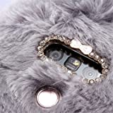 LG G2 Case, [Plush Rabbit Case] Stylish Cute Furry