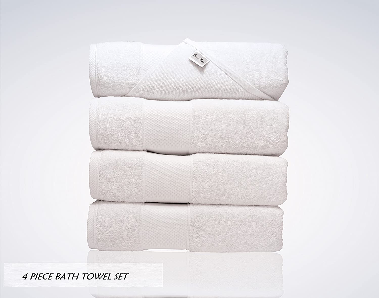 Chiara Rose Lint Free Turkish Bath Towel Set
