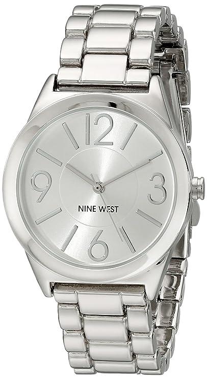 Nine West Women's NW/1663SVSB Silver-Tone Bracelet Watch