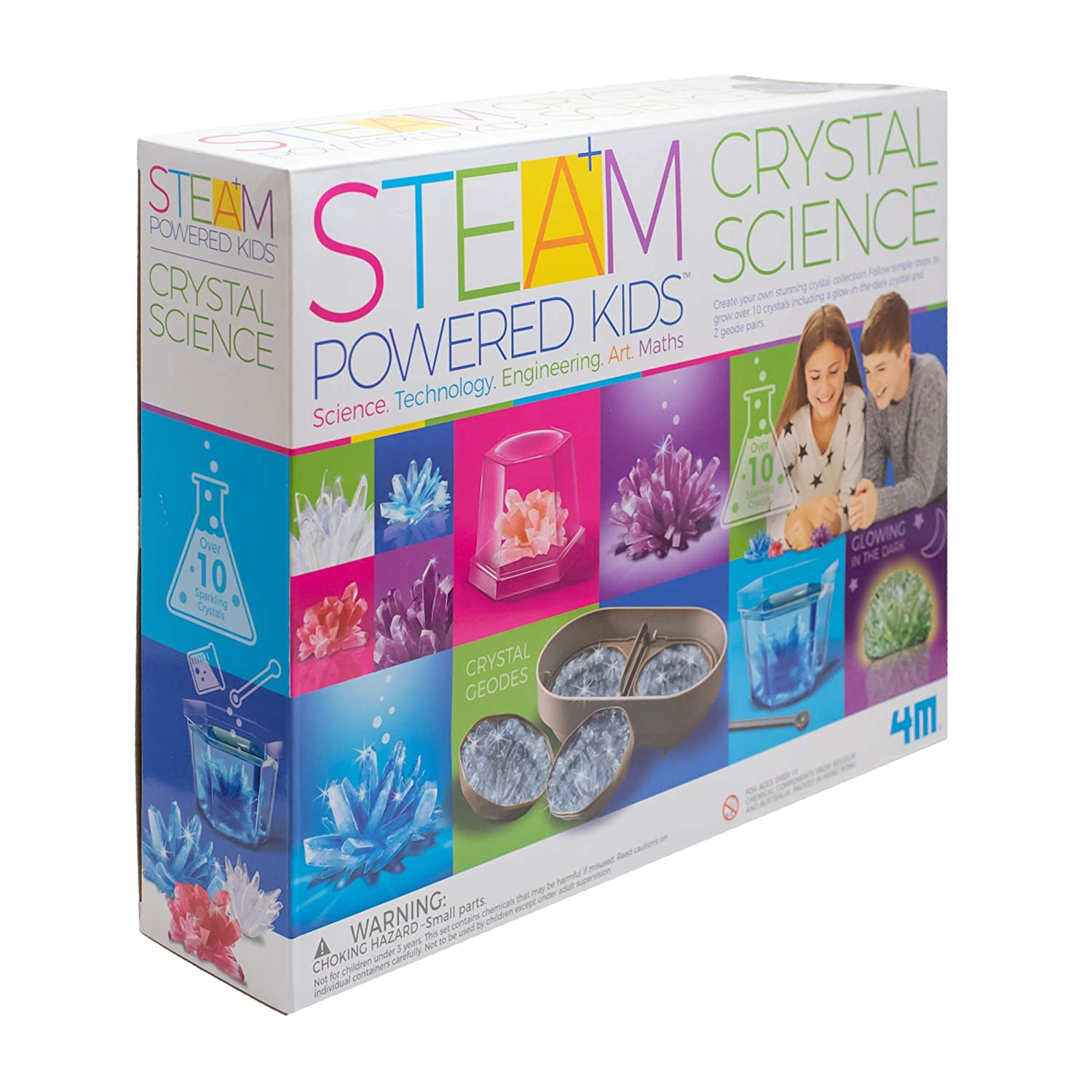 4M Deluxe Crystal Growing Combo Steam Science Kit - DIY Geology, Chemistry, Art, STEM Toys Gift for Kids & Teens, Boys & Girls