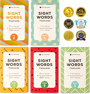 School Zone - Sight Words Flash Cards - Ages 5 and Up, Kindergarten