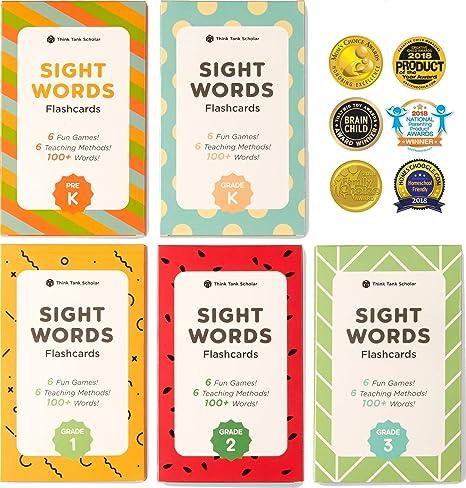 Amazon.com: Think Tank Scholar 500+ Sight Words Flash Cards Bundle ...