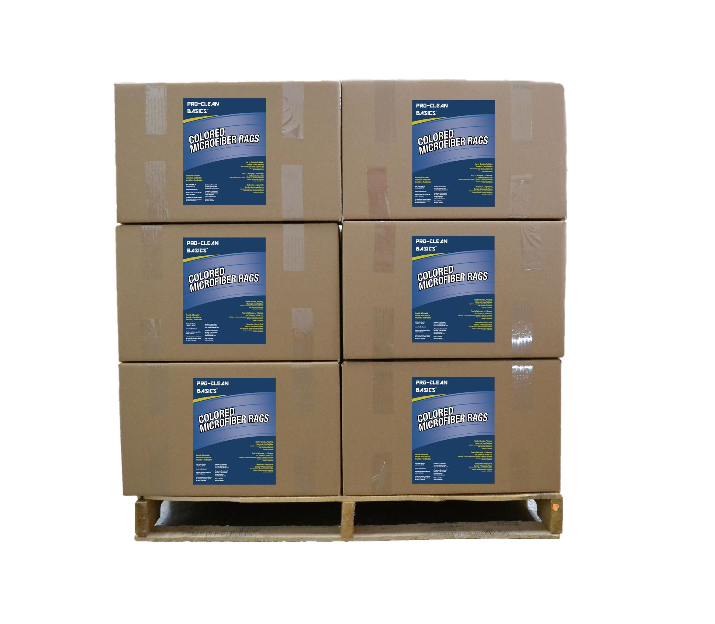 Pro-Clean Basics A95020 New Microfiber Rag Pallet, 650 lb. or 25 lb. Boxes by Pro-Clean Basics
