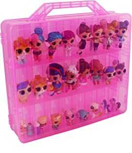Bins & Things Toys Organizer Storage Case with 48 Compartments Compatible with LOL Surprise Dolls, LPS Figures, Shopkins and Calico Critters