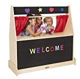 ECR4Kids Birch Hardwood Play Puppet Theater with