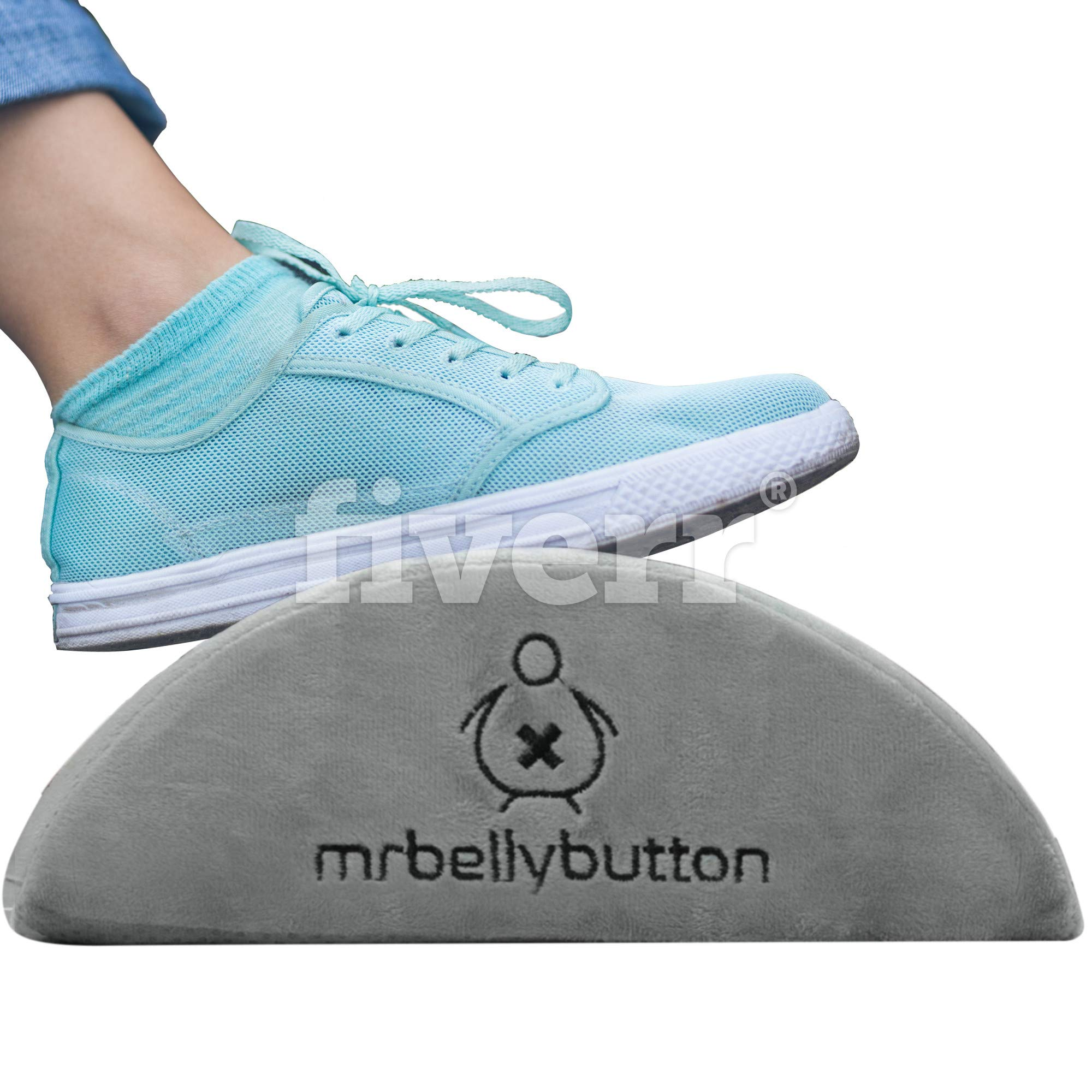 MrBellybutton Foot Rest Cushion Under Desk – Ergonomic Footrest for Desks with Non-Slip Bottom and Washable Cover - Firm and Strong Feet Cushion for Home and Office - 17.5''x12''x4''
