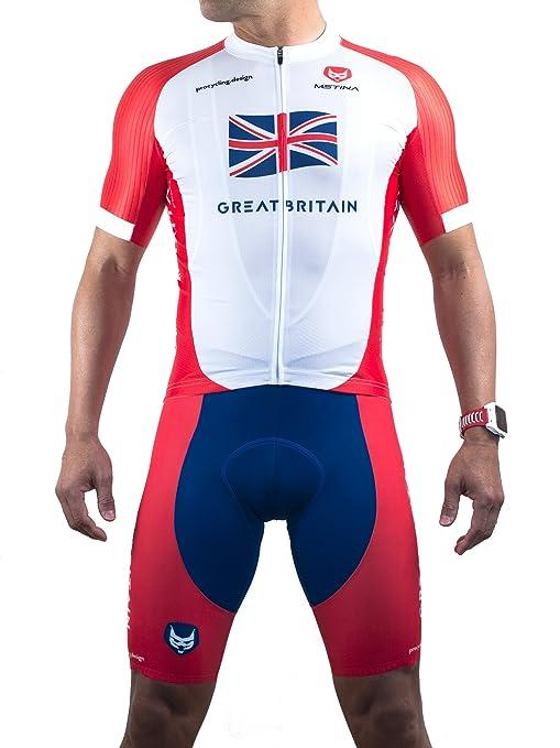 2 opinioni per Completo Ciclismo Estivo Professionale- Great Britain- Maglia traspirante manica