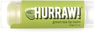 product image for Hurraw! Green Tea Lip Balm, 4.8g/.17oz: Organic, Certified Vegan, Cruelty and Gluten Free. Non-GMO, 100% Natural Ingredients. Bee, Shea, Soy and Palm Free. Made in USA