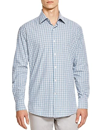 a83cd23bfe Image Unavailable. Image not available for. Color  Bloomingdale s Mens  Regular Fit Egyptian Cotton Check Shirts ...