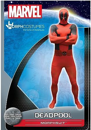 Morphsuits - Disfraz, Valor Básico Para Deadpool 165-180 Cm Altura, Talla L