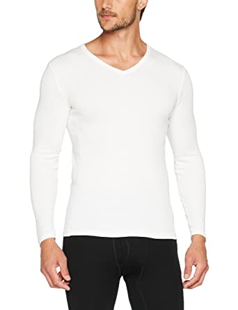 646cf1297c977 Damart Men's Tee-Shirt Manches Longues Thermolactyl Bioactif Themal Top,  Blanc, Small