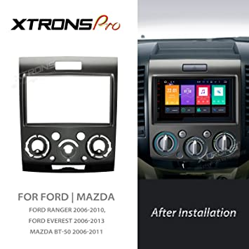 Amazon.com: XTRONS Car Radio Stereo Fascia Dash Panel Kit for FORD Ranger Everest for MAZDA BT-50: Car Electronics