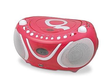Gulli 477148 Radio CD-MP3 FM avec Port USB - Rose