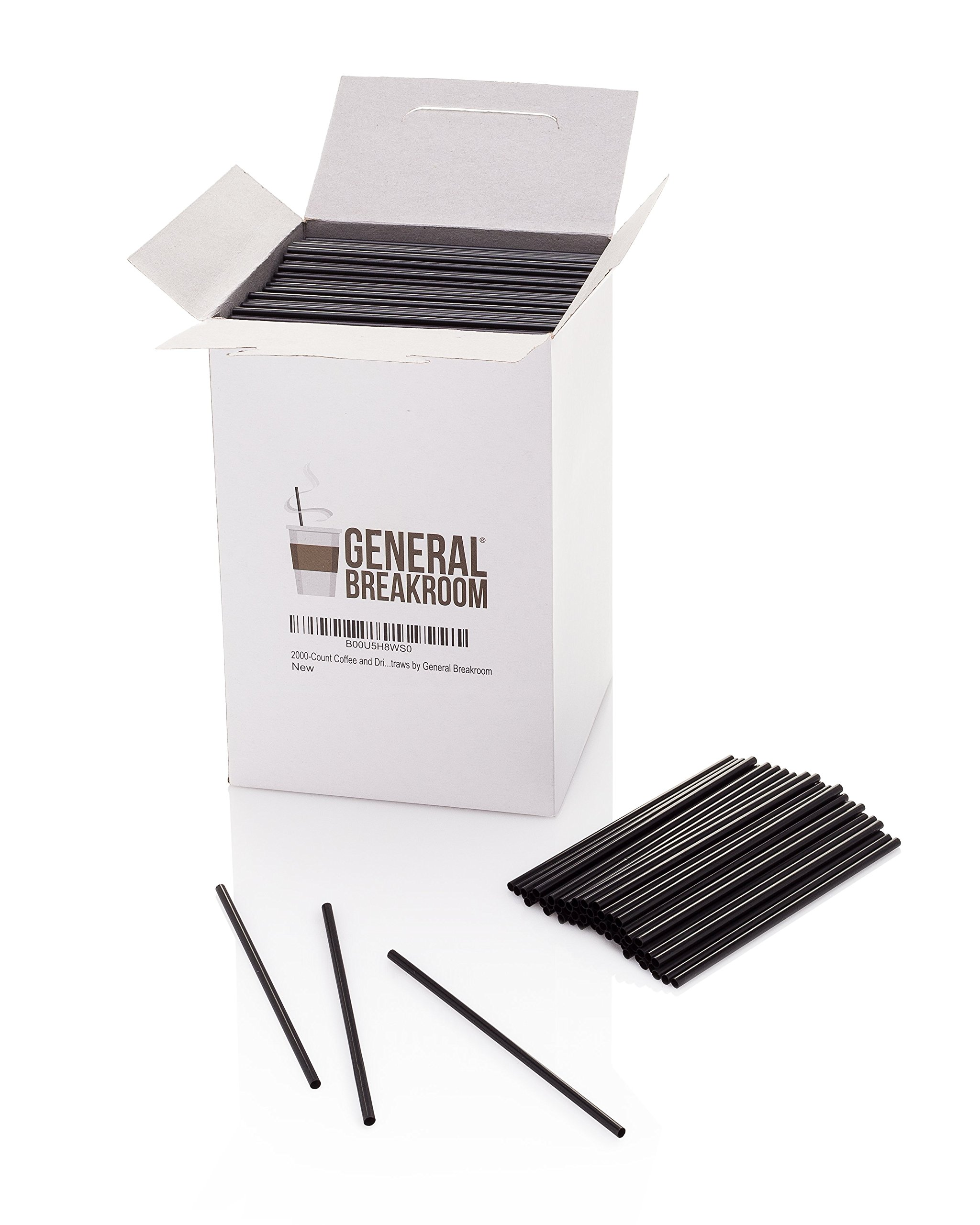 2000-count, 5 1/2'' Coffee and Cocktail Drink Stirrer Straws By General Breakroom