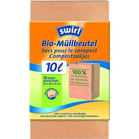 Swirl 2049673 para residuos orgánicos 10 x 10 Piezas: Amazon ...