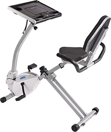 Stamina 2-in-1 Recumbent Exercise Bike Workstation Standing Desk