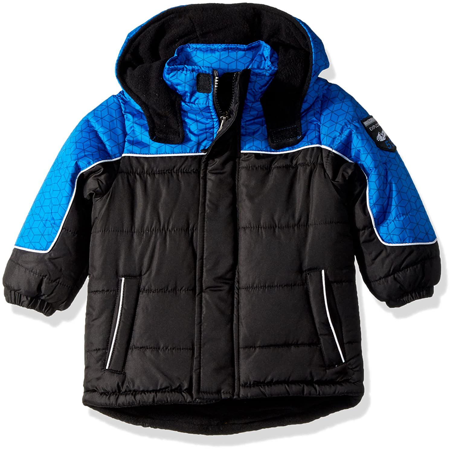 iXtreme Baby Boys Inf Tonal Geo Print Colorblock Puffer 94325