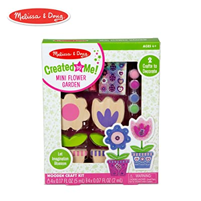 Melissa & Doug Created by Me! Wooden Flower Garden Set: Toys & Games