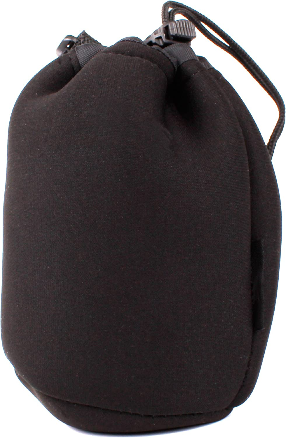Compatible with Tokina at-X//AF Lenses AF 100mm DURAGADGET Black Medium Camera Lens Soft Pouch Case
