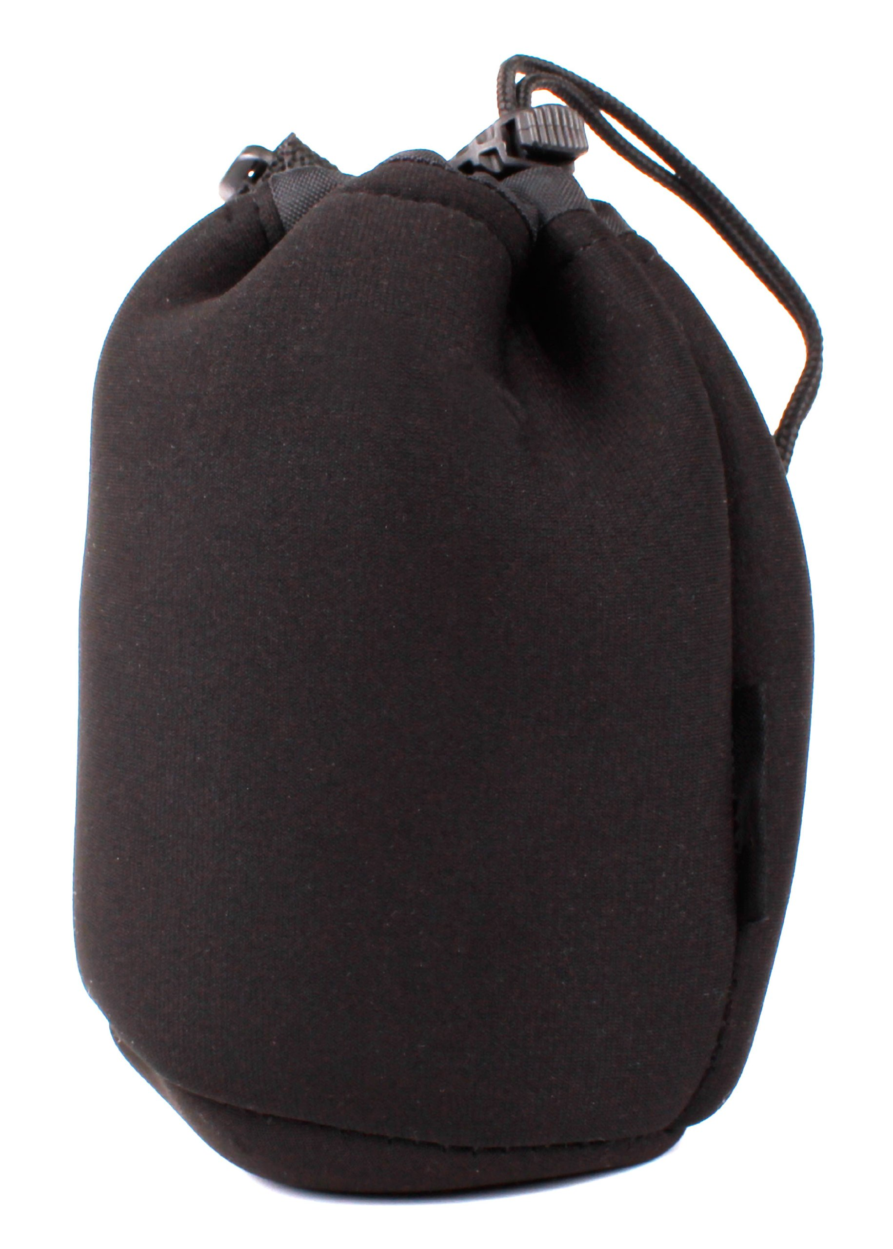 DURAGADGET Jet Black Super-Soft Nylon Pouch Case in Size Medium for the Sony E 55-210mm F4.5-6.3 Lens for Sony E-Mount Cameras by DURAGADGET
