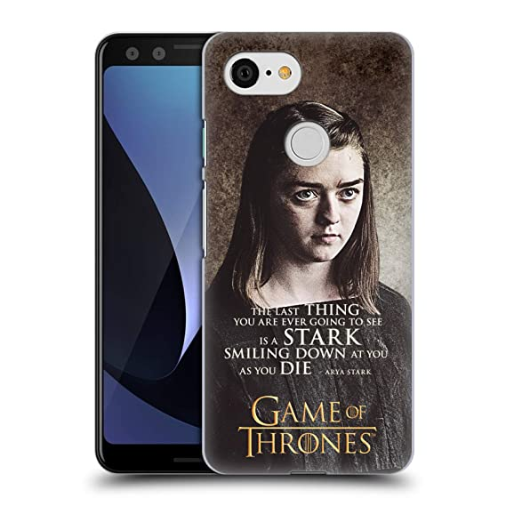 Official HBO Game Of Thrones Arya Stark Quotes Hard Back Case For Google Pixel 3